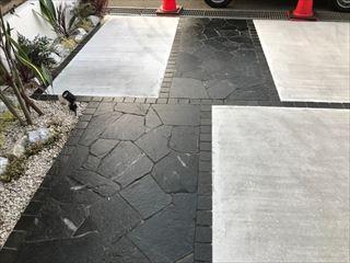 施工後のタイル床