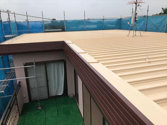 塗り替え後の住宅屋根