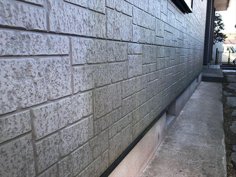 住宅外壁に付いた藻