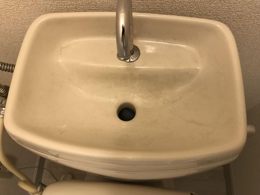 塗装前のトイレ便器