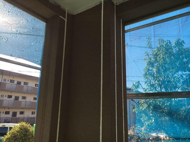 シーリング工事を終えた住宅外壁