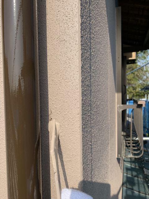 外壁の汚れをタッチアップ塗装