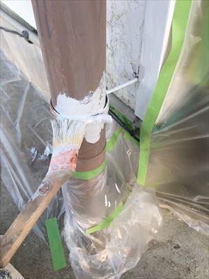 住宅鉄部のサビ止め塗装