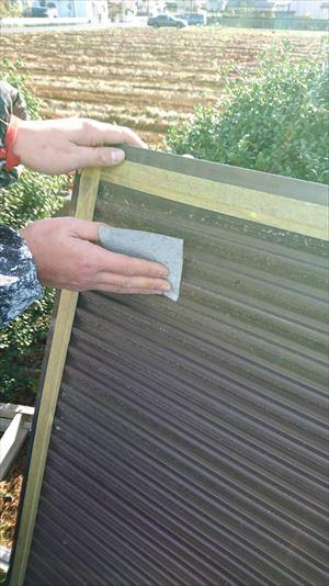 住宅雨戸の塗装前の下地処理