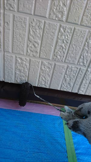 住宅板金部の上塗り塗装
