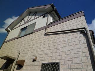 塗装前の住宅外壁