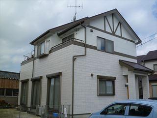 塗装後の住宅外観