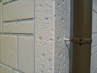 2色分けに仕上げた外壁
