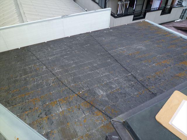 藻が発生しているカラーベスト屋根