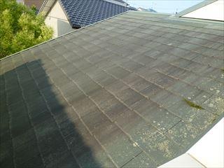 塗装前のカラーベスト屋根