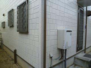 塗装後のデザイン調の外壁