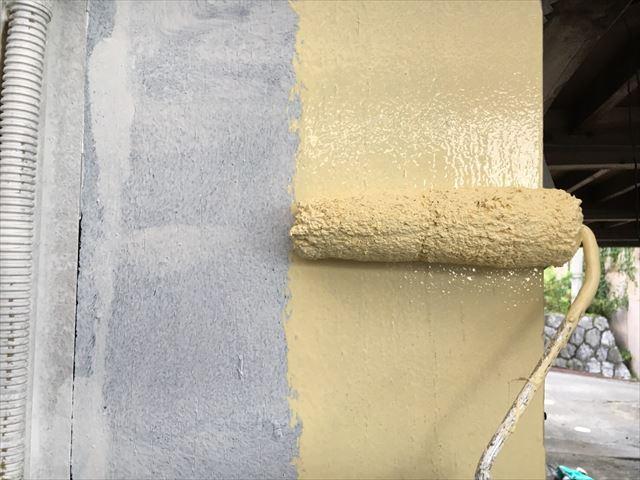 モルタル壁の上塗り塗装