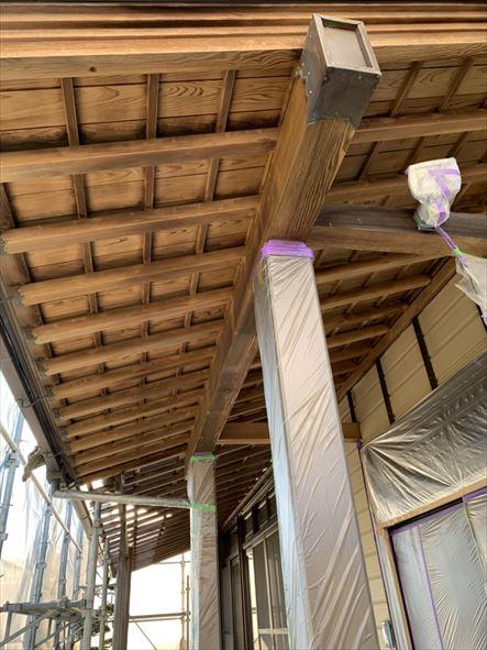 漂白洗浄した軒天井
