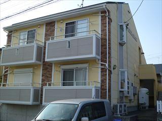 塗装前のマンションの外観