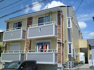 塗装後のマンションの外観